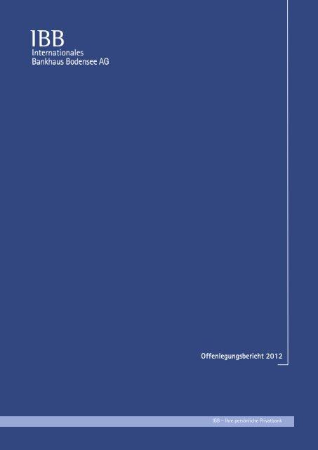 Offenlegungsbericht 2012 - IBB - Internationales Bankhaus ...