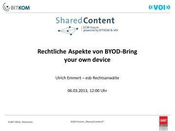 Rechtliche Aspekte von BYOD-Bring your own device - ECM Navigator