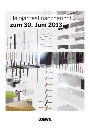 Q2-Bericht 2013 - Loewe AG > Aktuell