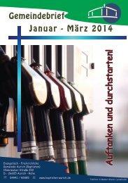 Gemeindebrief Januar bis März 2014