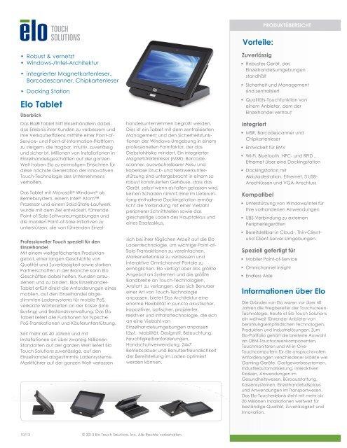 Elo_Tablet datasheet_German_GF_A4_02 - Elo Touch Solutions