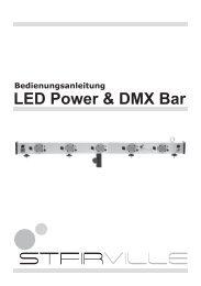 Bedienungsanleitung • LED Power & DMX Bar - Musikhaus Thomann