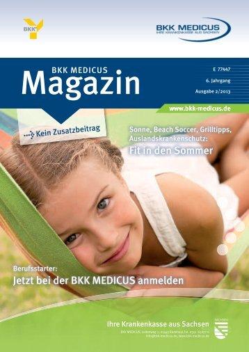 Jetzt das Mitgliedermagazin (2/2013) herunterladen - BKK Medicus