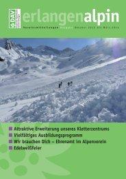 erlangenalpin Winter 2013/2014 - Alpenverein Sektion Erlangen