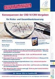 Konsequenzen der CRD IV/CRR-Vorgaben - Finanz Colloquium ...