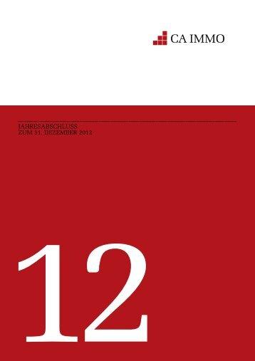 Jahresabschluss 2012 - CA Immo