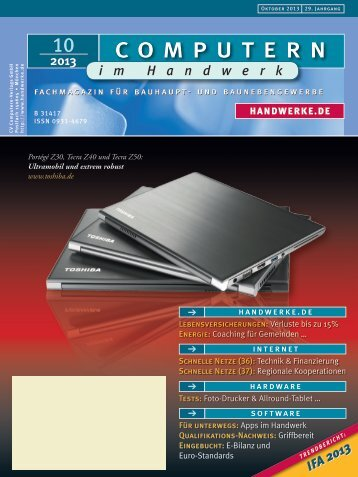 Heft 10/2013 downloaden - Computern im Handwerk