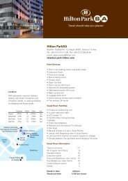 Fact Sheet ENG - Hilton Hotels