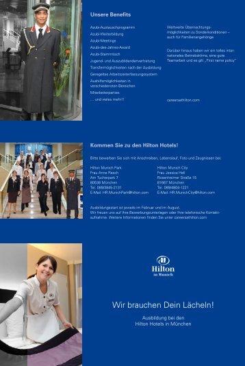 Wir brauchen Dein Lächeln! - Hilton Hotels