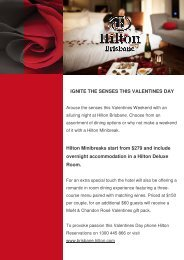 IGNITE THE SENSES THIS VALENTINES DAY Hilton ... - Hilton Hotels
