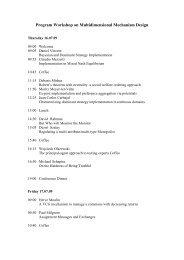 Program Workshop on Multidimensional Mechanism Design - HIM