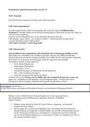 Protokoll der Sitzung des Agenda-Forums vom 25 - Attendorn