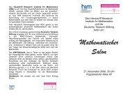 Mathematischer Salon - HIM - Universität Bonn