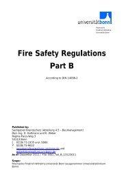 Fire Safety Regulations Part B - HIM - Universität Bonn