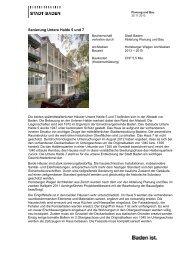 Detailinformationen Sanierung Untere Halde 5 und 7 - Stadt Baden