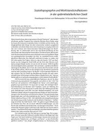Sozialtopographie und Wohlstandsindikatoren in der ...