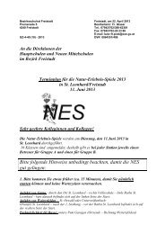 NES 2013 - Terminplan