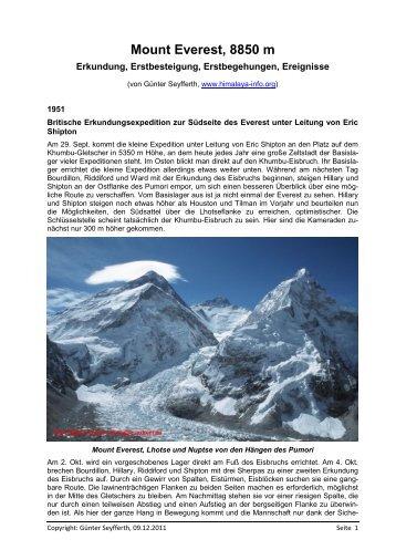 1951 - Die Berge des Himalaya