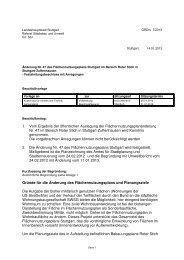 1. Vom Ergebnis der öffentlichen Auslegung der ... - Stuttgart