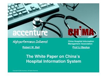 The White Paper on China's Hospital Information System - himss