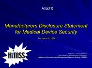 Manufacturers Disclosure Statement for Medical Device ... - himss