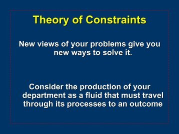 Theory of Constraints Template - himss