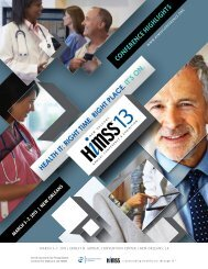 CONfERENCE HigHLigHtS - himss