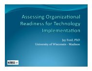 Assessing Organizational Readiness for Technology ... - himss