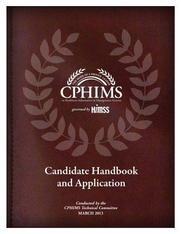 Candidate Handbook and Application - himss