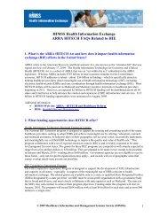 HIE HITECH ARRA Fact Sheet - himss
