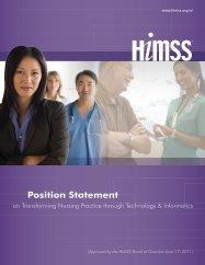 HIMSS Position Statement - Transforming Nursing Through ...