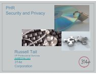 PHR Privacy and Security Considerations - himss