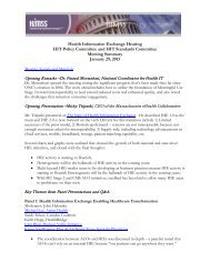 HITPC/HITSC Health Information Exchange Hearing ... - himss