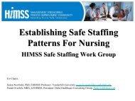 Establishing Safe Staffing Patterns for Nurses - himss