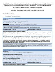 Standards, Implementation Specifications, and Certification ... - himss