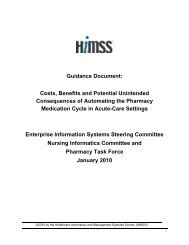 Pharmacy Guidance Document - himss