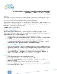 (CPHIMS) Renewal Requirements and Application - himss