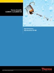 Thermo Scientific ELEMENT 2 & ELEMENT XR - Fisher Scientific