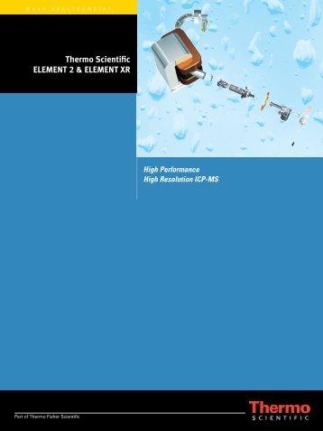 Thermo Scientific ELEMENT 2 & ELEMENT XR - Fisher Scientific