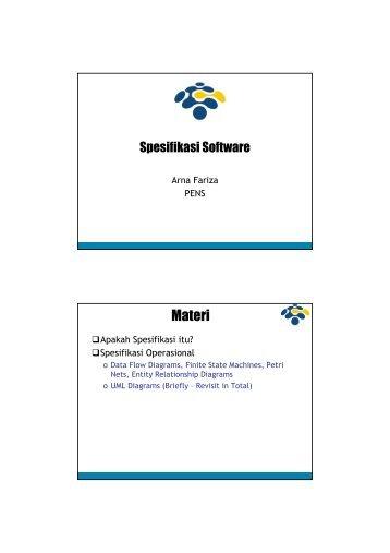 08 Spesifikasi Software.pdf - Lecturer EEPIS