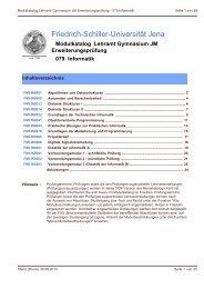 Modulbeschreibungen - Friedolin - Friedrich-Schiller-Universität Jena