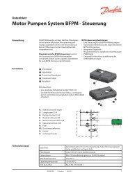Motor Pumpen System BFPM - Steuerung - Danfoss