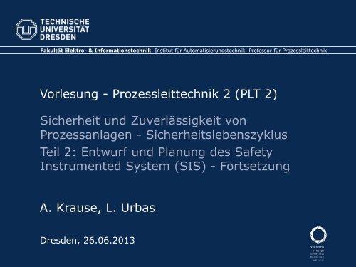 Sicherheitslebenszyklus - Teil 2 - Fakultät Elektrotechnik und ...