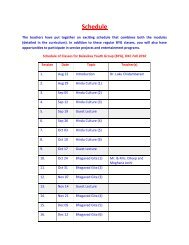 Youth Group Schedule PDF - Hindu Temple of Oklahoma