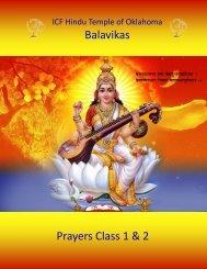 Prayers Class 1 & 2 Balavikas - Hindu Temple of Oklahoma City