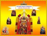 ICF Hindu Temple of Oklahoma Calendar of Events 2012
