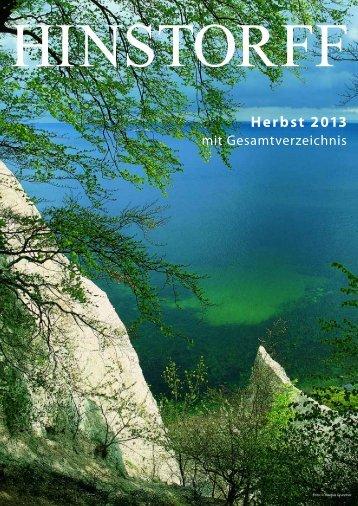 Herbst 2013 mit Gesamtverzeichnis - Hinstorff Verlag