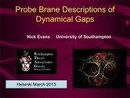 Probe Brane Descriptions of Dynamical Gaps - Helsinki Institute of ...