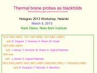 Thermal brane probes as blackfolds - Helsinki Institute of Physics
