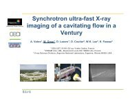 Synchrotron ultra-fast X-ray imaging of a cavitating flow in a Ventury